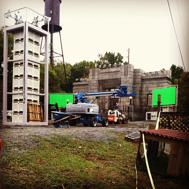Hunger Games set construction 1